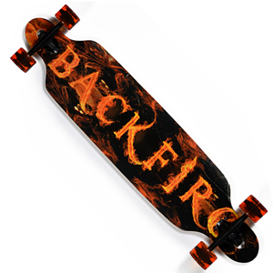 Backfire Flaming Longboard