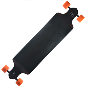 Backfire Plain Black Longboard