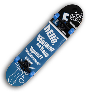 Backfire E-Skateboard Greetings Skateboard
