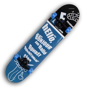 Backfire E-Skateboard Greetings Skateboard