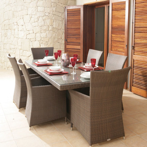 Poly Rattan Dining Set DL-D36-37