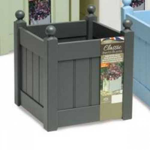 AFK Garden - Classic Painted Planters 380T Heritage Charcoal 17 Inch Height