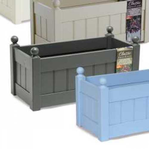 AFK Garden - Classic Painted Troughs Heritage Charcoal 26 Inch