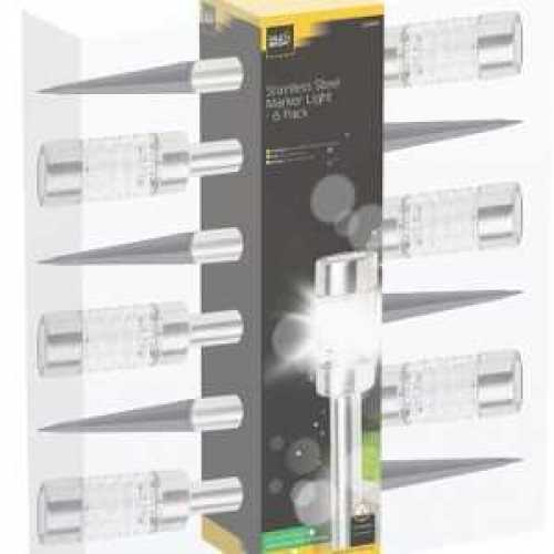 Cole & Bright Solar Stainless Steel Marker Light 6 Pack L21004