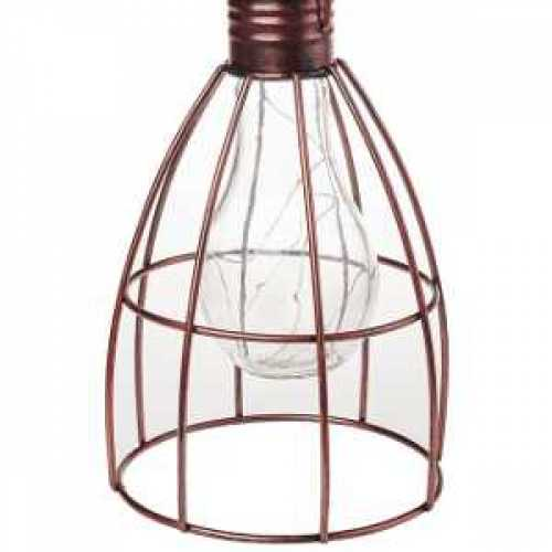Cole & Bright Solar Caged Lightbulb L23005