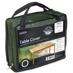 Gardman Black Table Cover 8 Seater Rectangle 35668