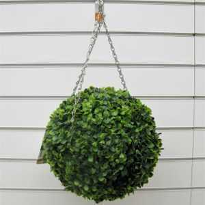 Artificial Leaf Effect Hanging Topiary Ball